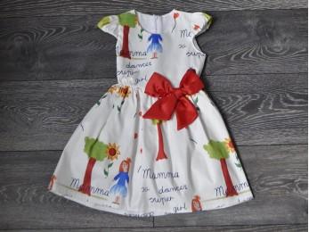 Сукня святкова біла, для дівчинки (310)