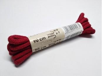 """Шнурки для взуття """"Coccine"""" круглі, червоні 90см (51)"""