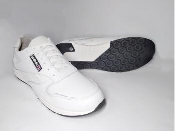 Кросівки шкіряні чоловічі батал білі 46-47р (958)