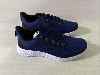Кросівки чоловічі на шнурках сині (1039)