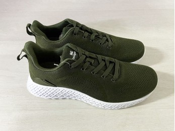 Кросівки чоловічі на шнурках зелений (1040)