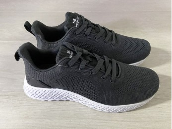 Кросівки чоловічі на шнурках сірі (1041)