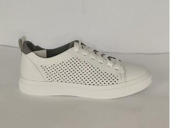 """Кросівки чоловічі білі """"Міда"""" перфорація (953)"""