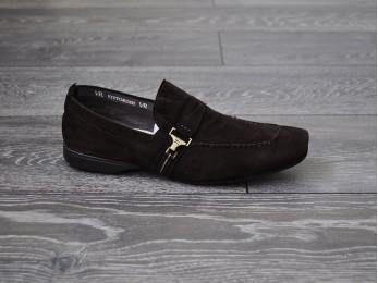 Туфлі чоловічі класичні замша без шнурка (17)