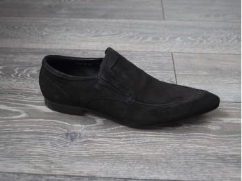 Туфлі чоловічі класичні замша без шнурка (23)