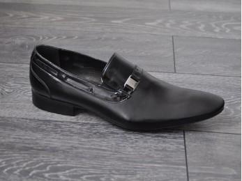 Туфлі чоловічі класичні шкіра без шнурка (232)