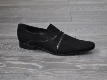 Туфлі чоловічі класичні замша без шнурка (233)