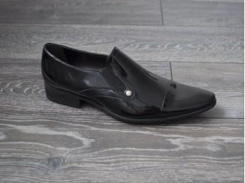 Туфлі чоловічі класичні шкіра без шнурка (239)