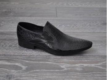 Туфлі чоловічі класичні шкіра без шнурка (24)