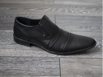 Туфлі чоловічі класичні шкіра без шнурка (280)