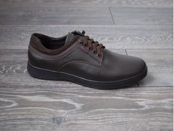 Туфлі - комфорт чоловічі  шкіра на шнурках (975)