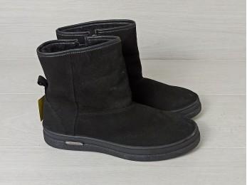 Угги чоловічі зима набук чорні (917)