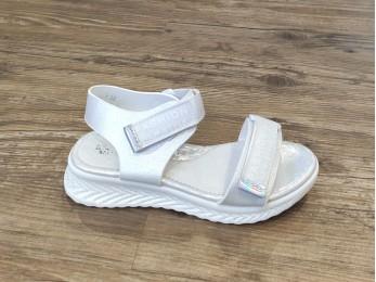 Босоніжки для дівчинки білі на танкетці 32-37 (2028)
