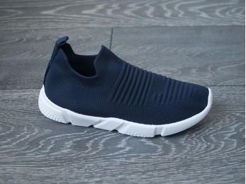 Кросівки на резинці без шнурка літо сині 36-41 (2381)