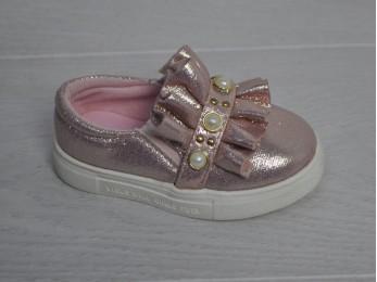 Туфлі - мокасини для дівчинки рожеві (1562)