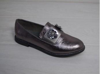 Туфлі - лофери для дівчинки бронзові  (1998)
