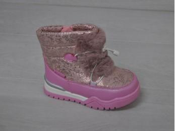 Дутики термостійкі для дівчинки зима рожеві 23-28 (2100)