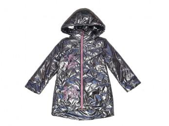 Куртка для дівчинки темно-сіра нейлон (1053/7)