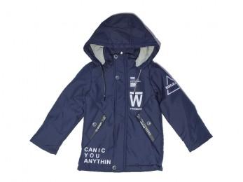 Куртка  для хлопчика темно-сині з візерунками (4/24)