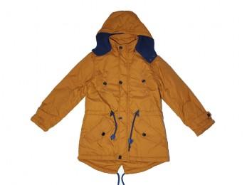 Куртка для хлопчика гірчична+синя підкладка (420)