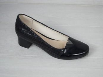 Туфлі жіночі батал чорні 38,39,42 (01609)