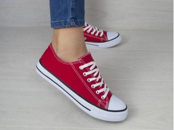 Кеди на шнурках червоні (995)