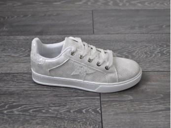 Кросівки жіночі срібні (1856)