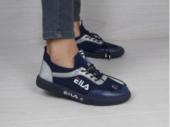 Кросівки на резинці сині (2096)