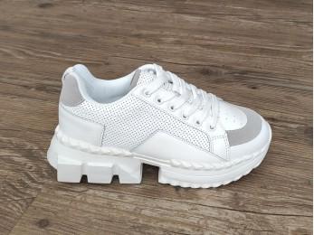 Кросівки жіночі білий+сірий (2289)