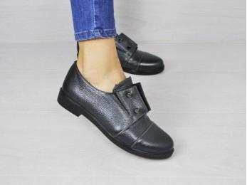 Туфлі жіночі на резинці чорні (1760)