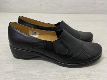 Туфлі жіночі шкіра батал чорні (913)